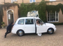 Classic London Taxi for weddings in Margate